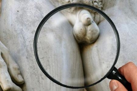 скульптура и лупа